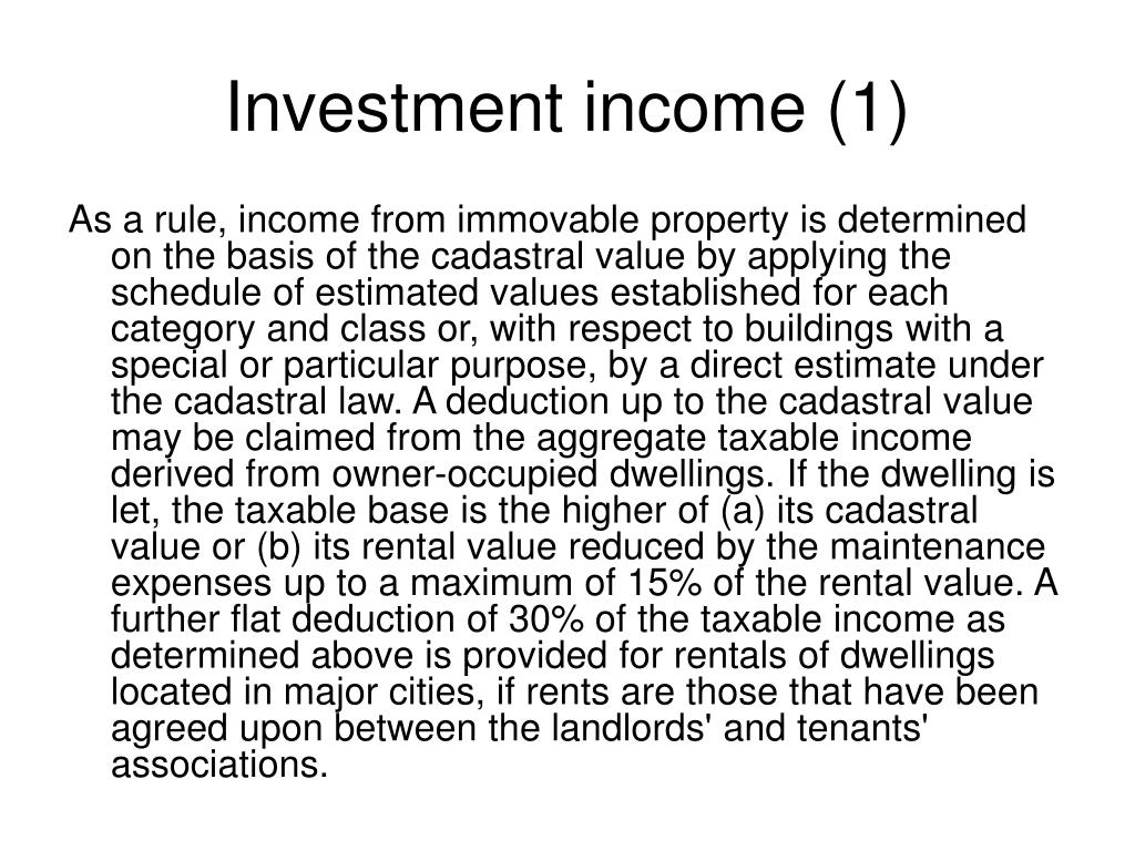 Investment income (1)