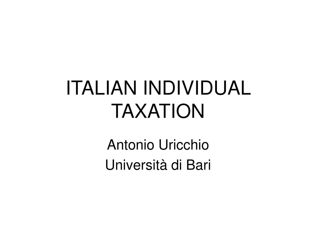 italian individual taxation