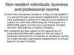non resident individuals business and professional income