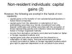 non resident individuals capital gains 2