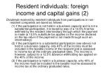 resident individuals foreign income and capital gains 2
