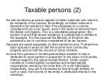 taxable persons 2