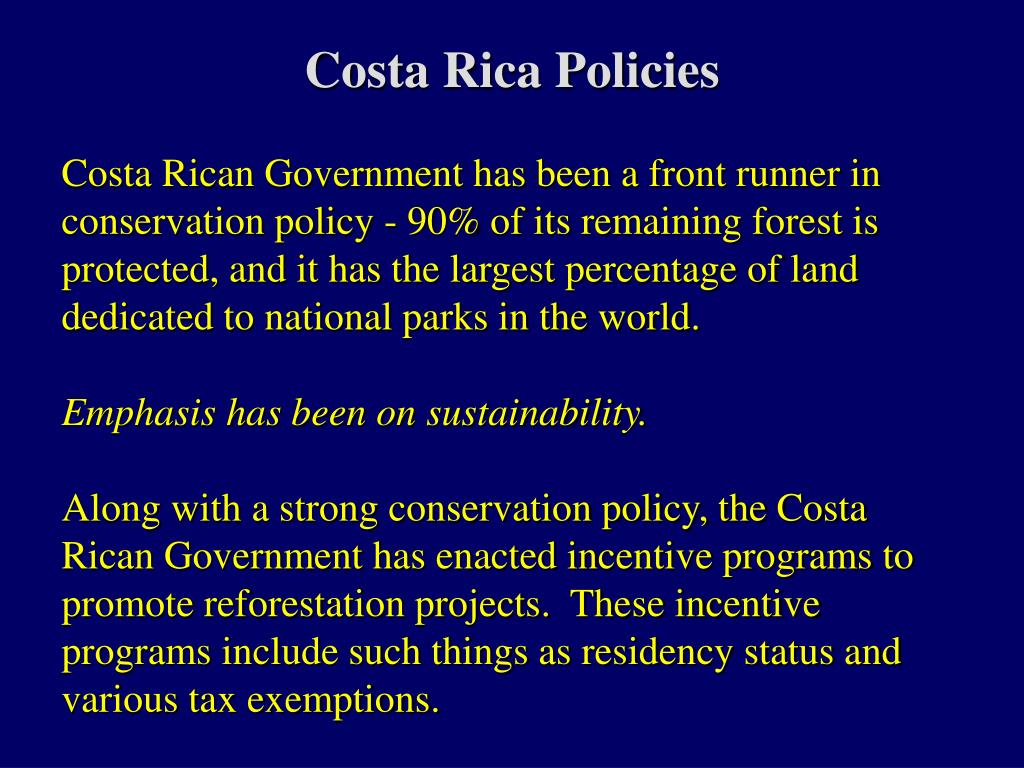 Costa Rica Policies