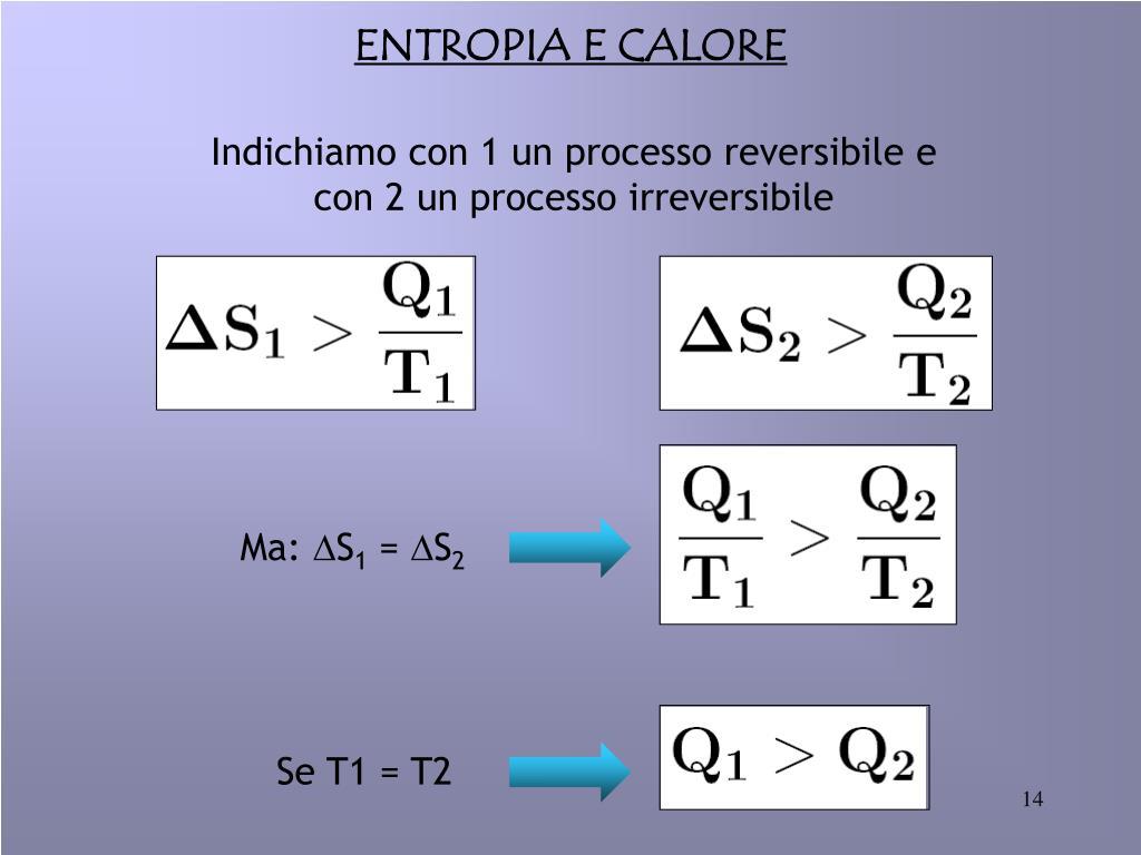 ENTROPIA E CALORE