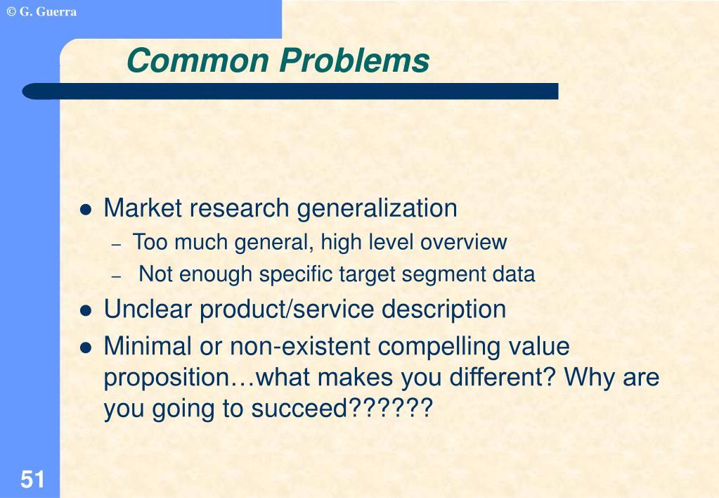 Market research generalization