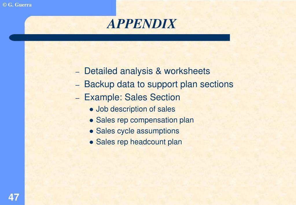 Detailed analysis & worksheets