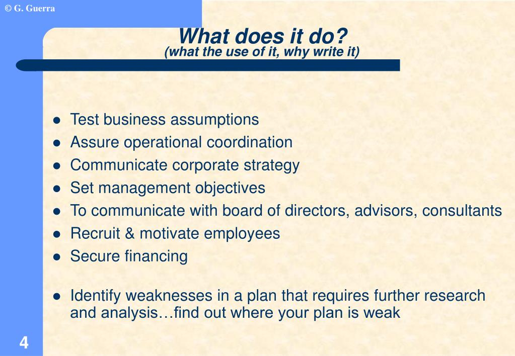 Test business assumptions