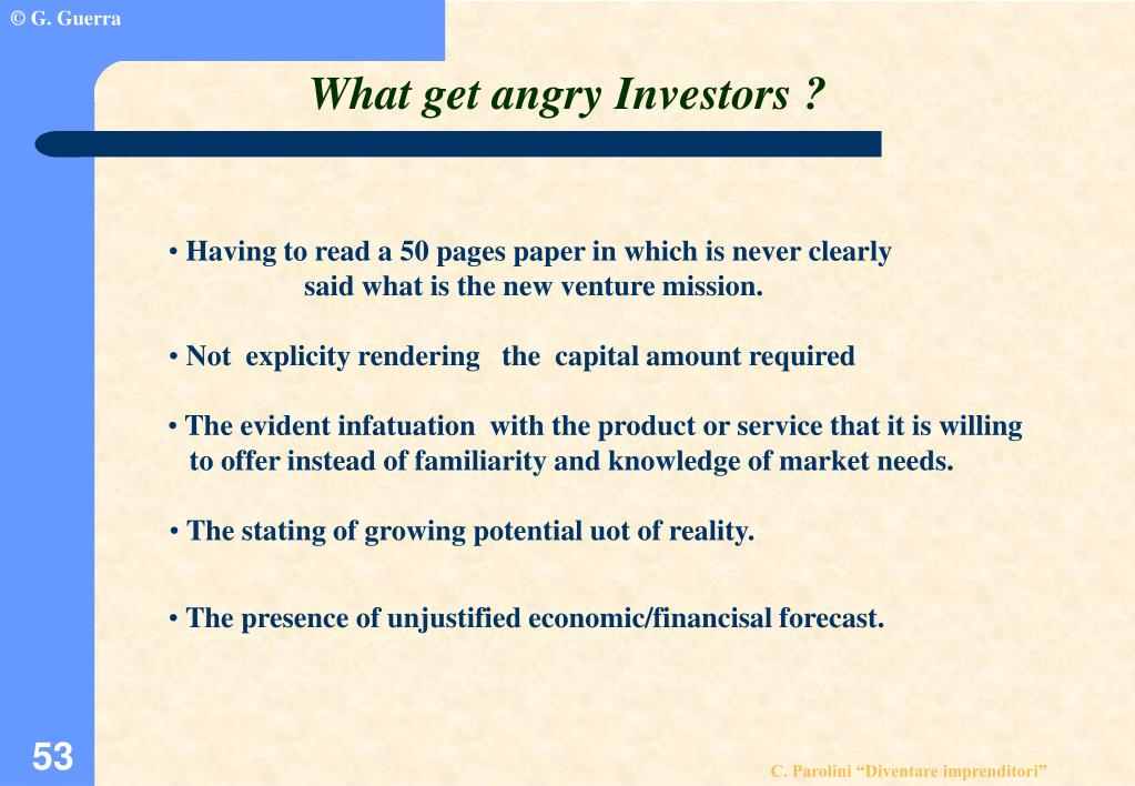 What get angry Investors ?