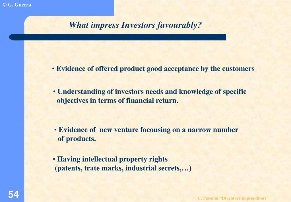 What impress Investors favourably?