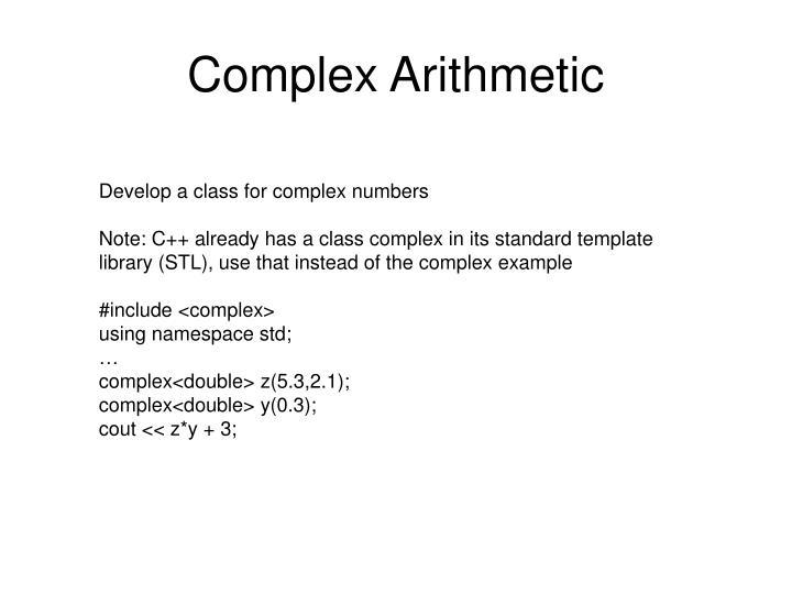 Complex Arithmetic