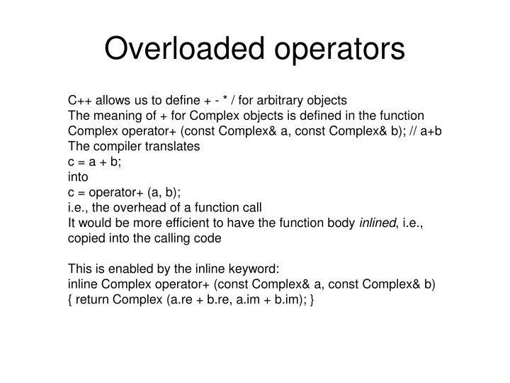 Overloaded operators