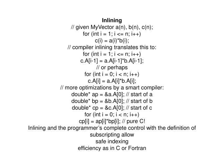 Inlining