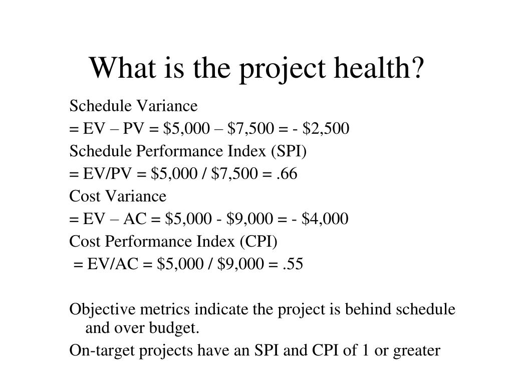 What is the project health?