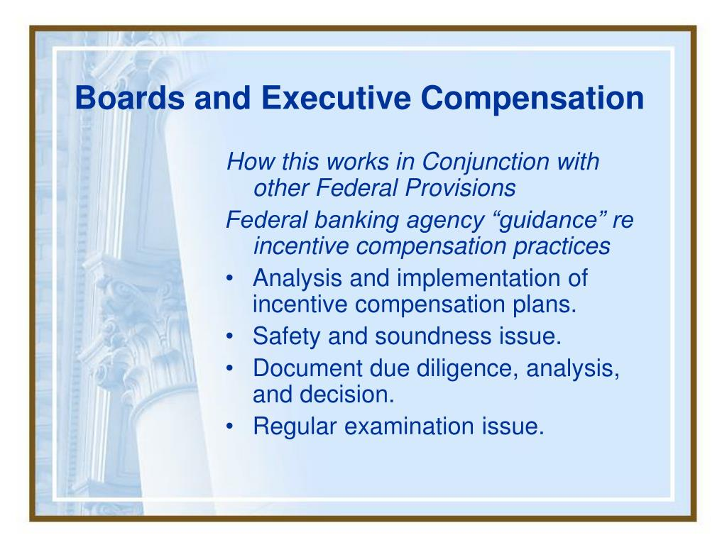 Boards and Executive Compensation