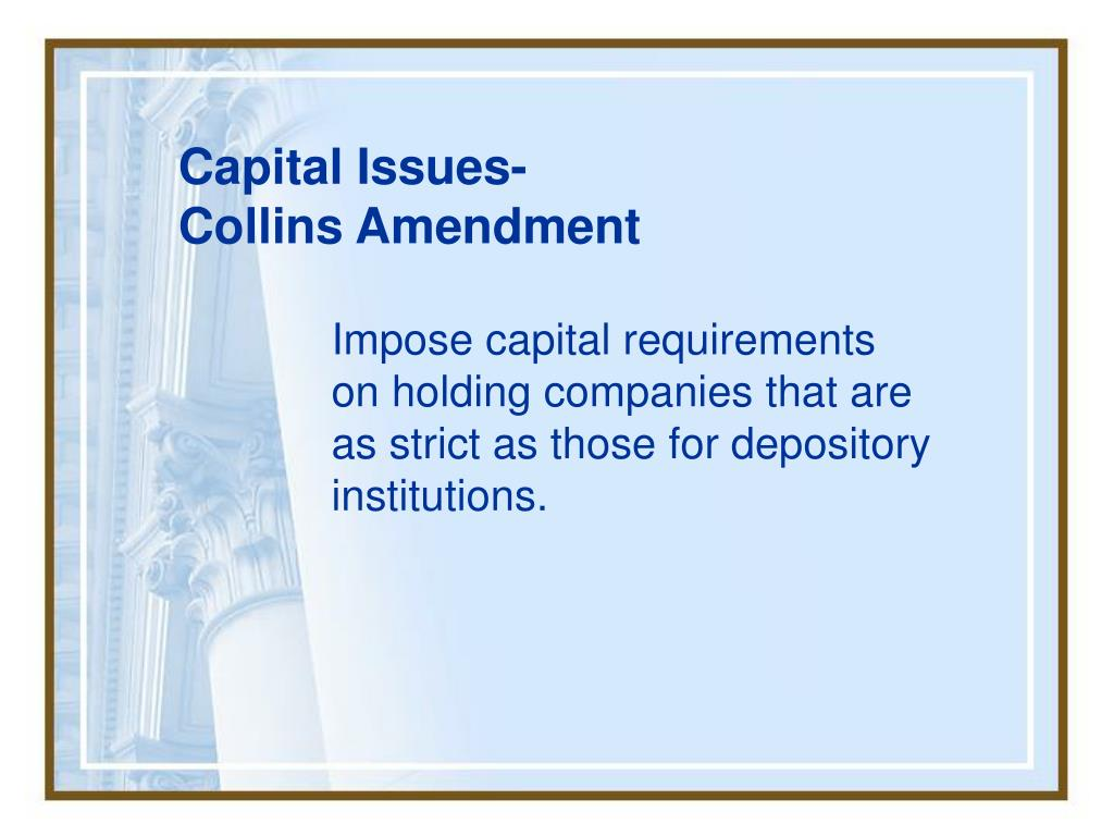 Capital Issues-