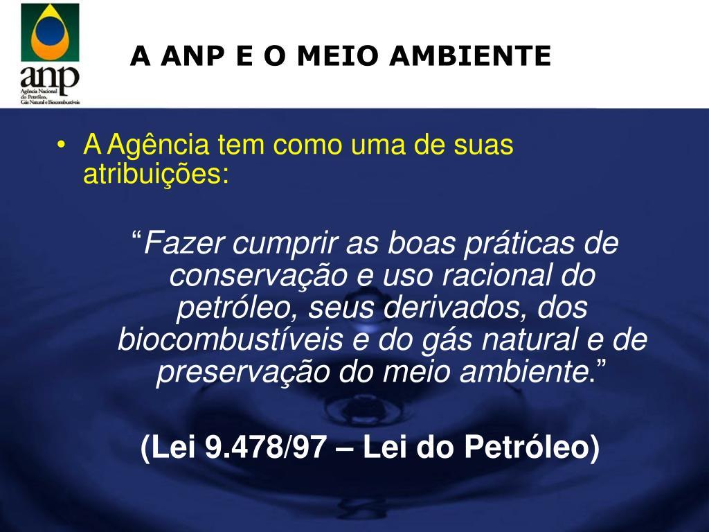 A ANP E O MEIO AMBIENTE