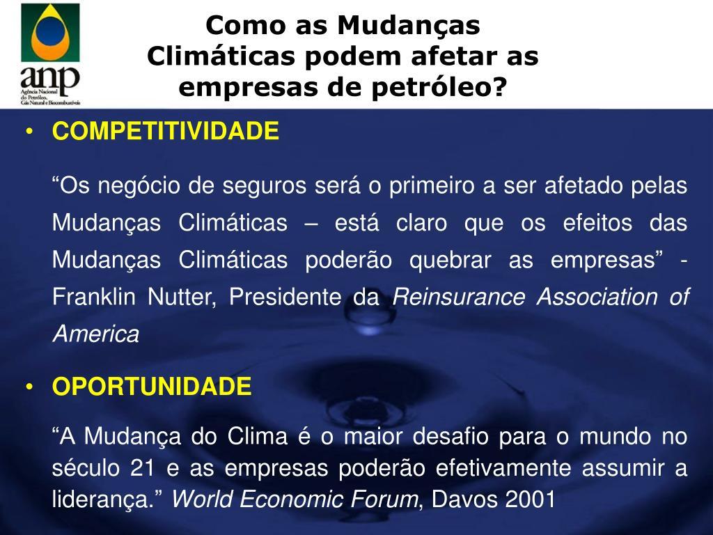 Como as Mudanças Climáticas podem afetar as empresas de petróleo?