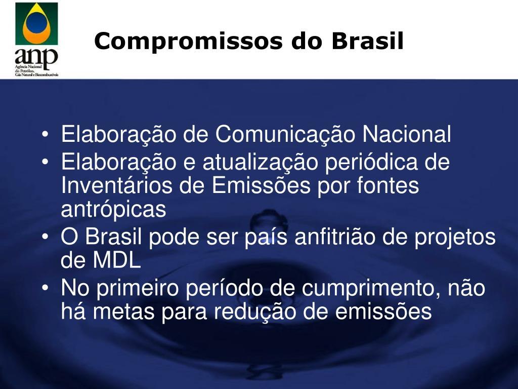 Compromissos do Brasil