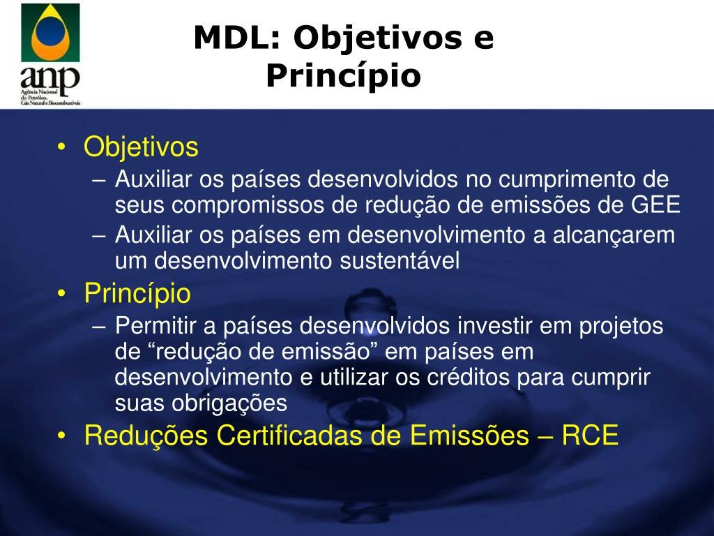 MDL: Objetivos e Princípio