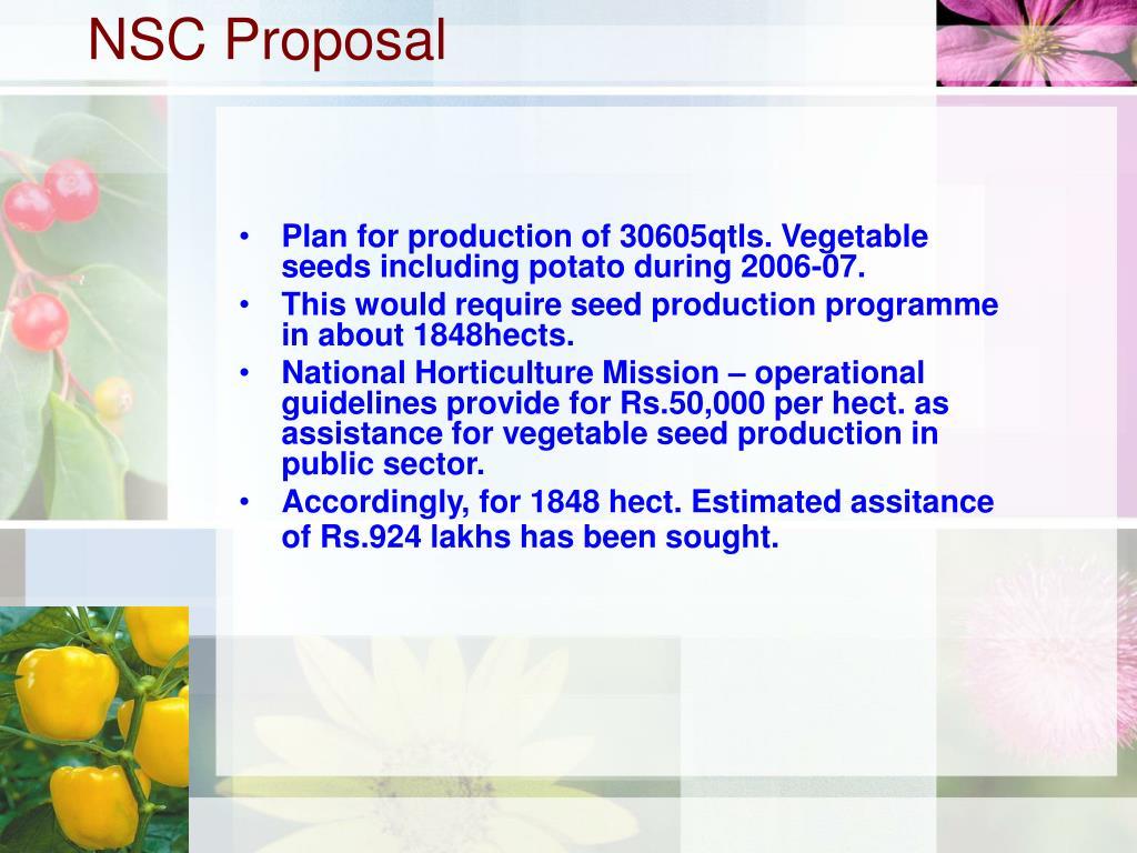 NSC Proposal