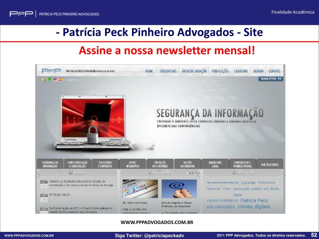 - Patrícia Peck Pinheiro Advogados - Site