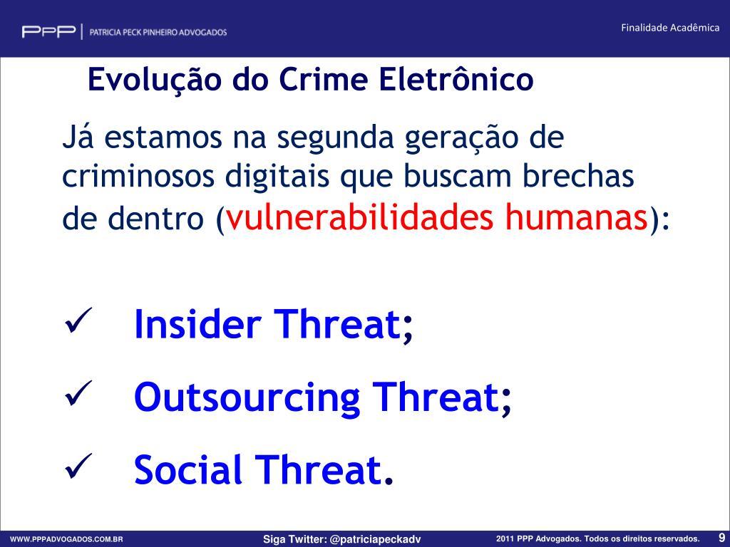 Evolução do Crime Eletrônico
