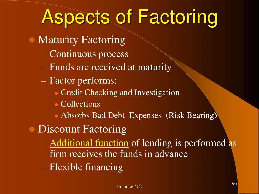 Aspects of Factoring