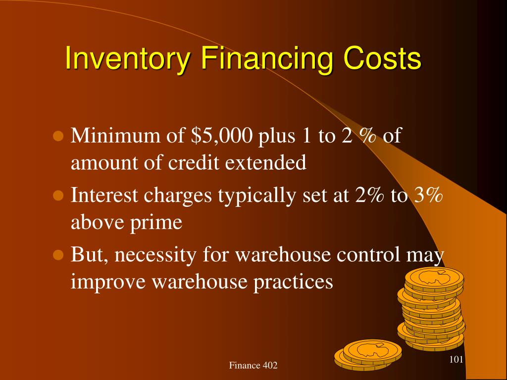 Inventory Financing Costs