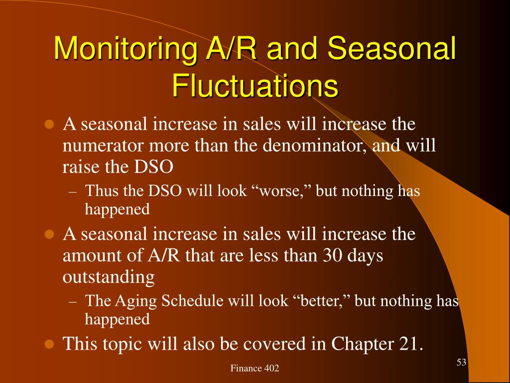 Monitoring A/R and Seasonal Fluctuations
