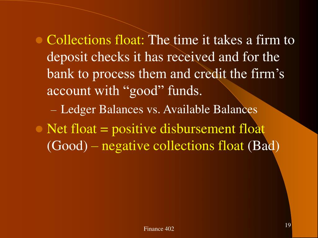 Collections float: