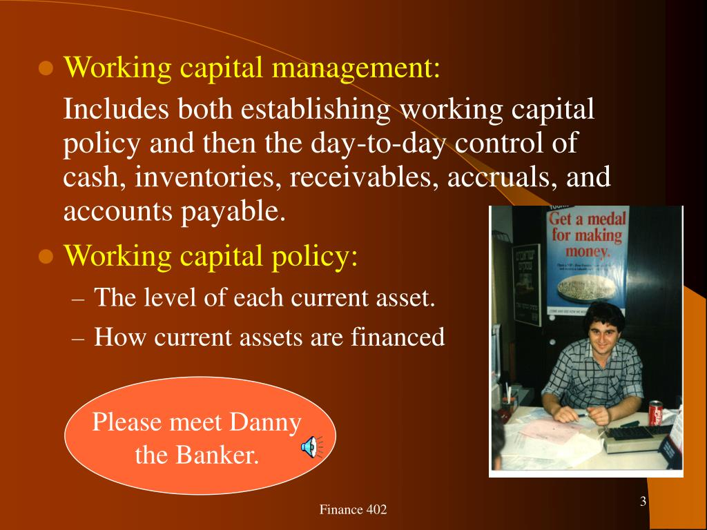 Working capital management: