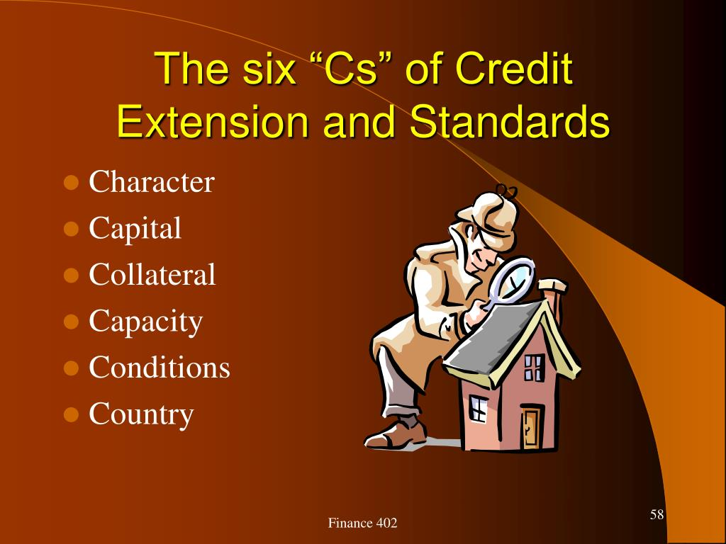 """The six """"Cs"""" of Credit Extension and Standards"""