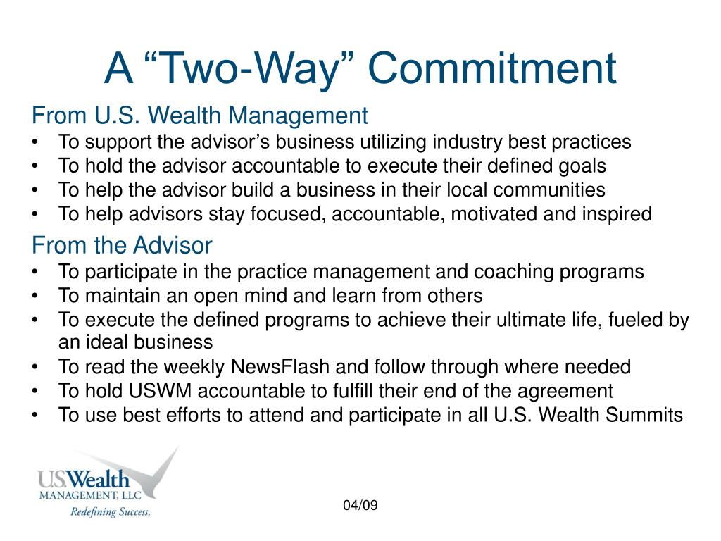 "A ""Two-Way"" Commitment"
