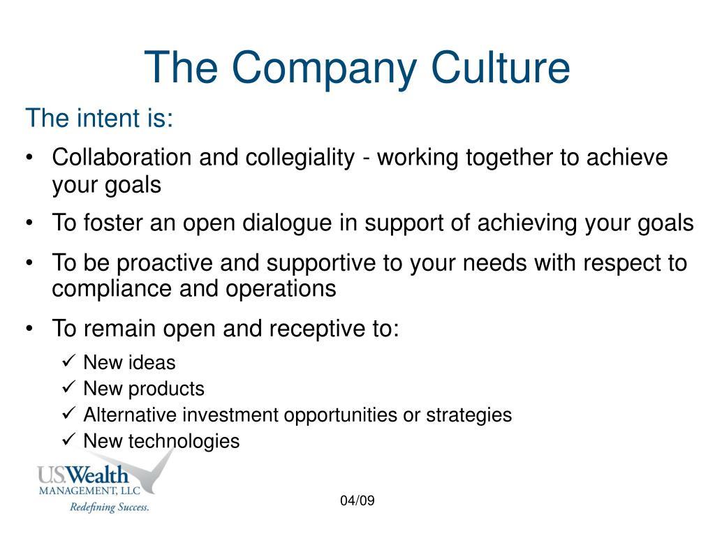 The Company Culture