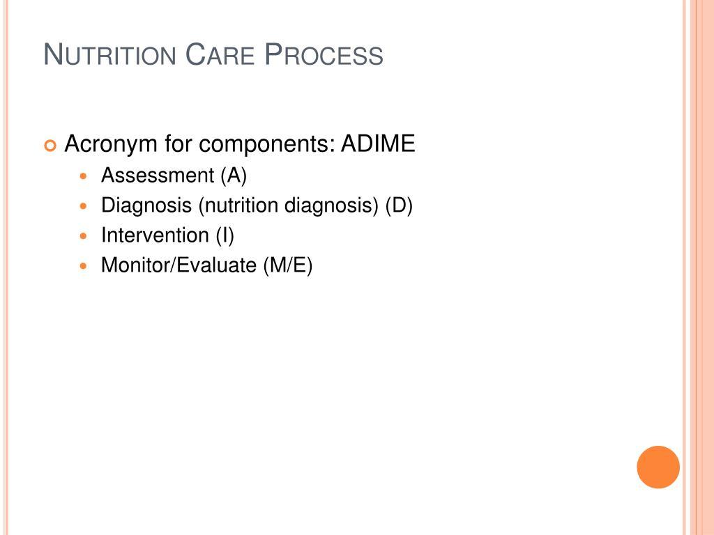 nutrition care process February 26, 2014 vha handbook 110908 1 nutrition care process 1 purpose: the purpose of this veterans health administration (vha) handbook is to.