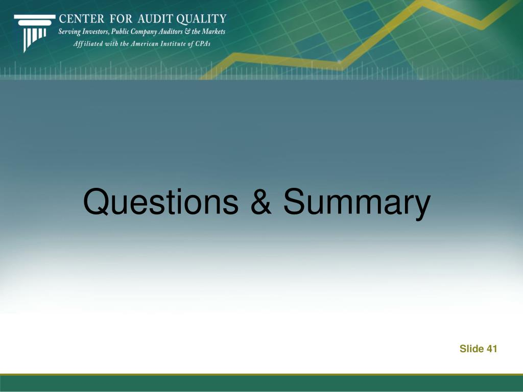 Questions & Summary