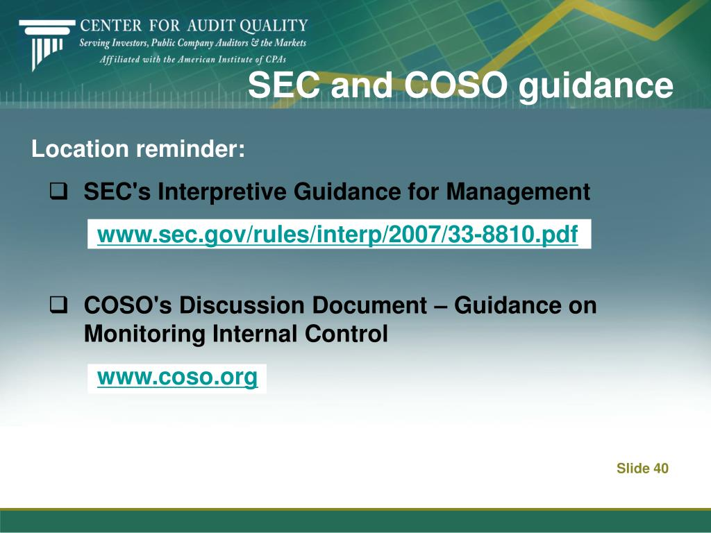 SEC and COSO