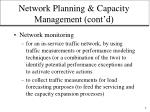 network planning capacity management cont d7