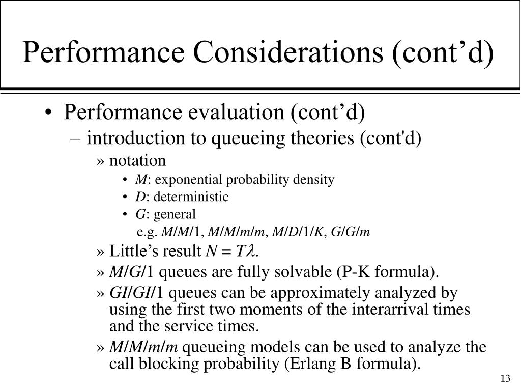 Performance Considerations