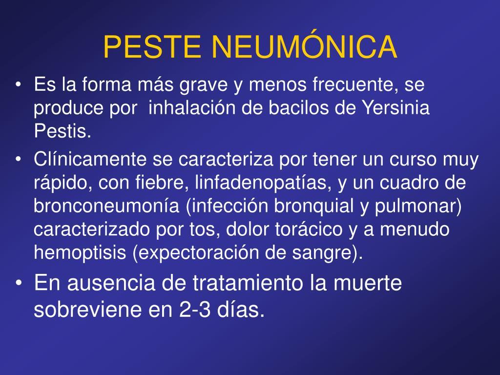 PESTE NEUMÓNICA