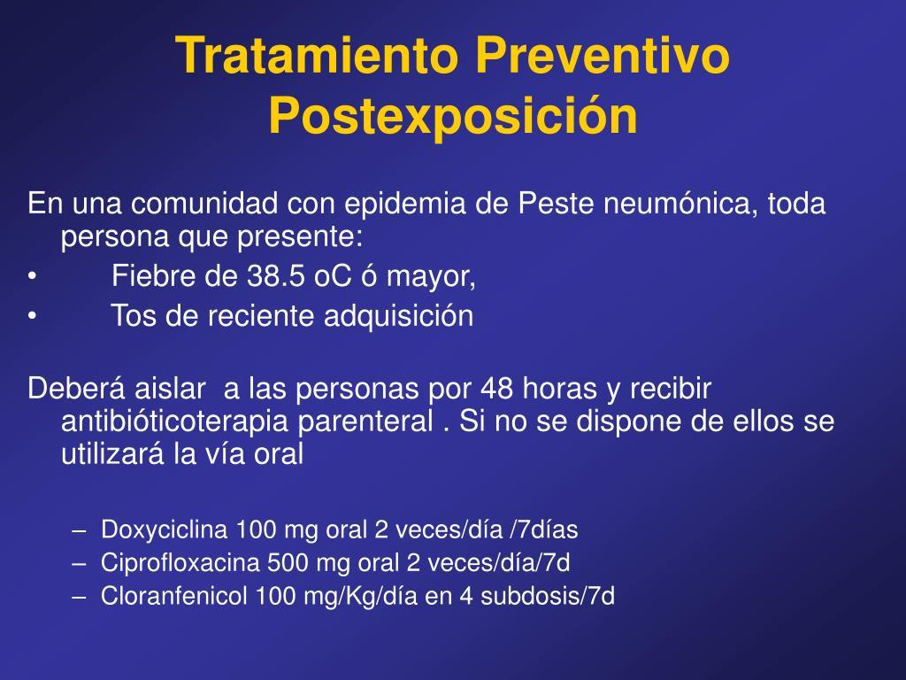 Tratamiento Preventivo Postexposición