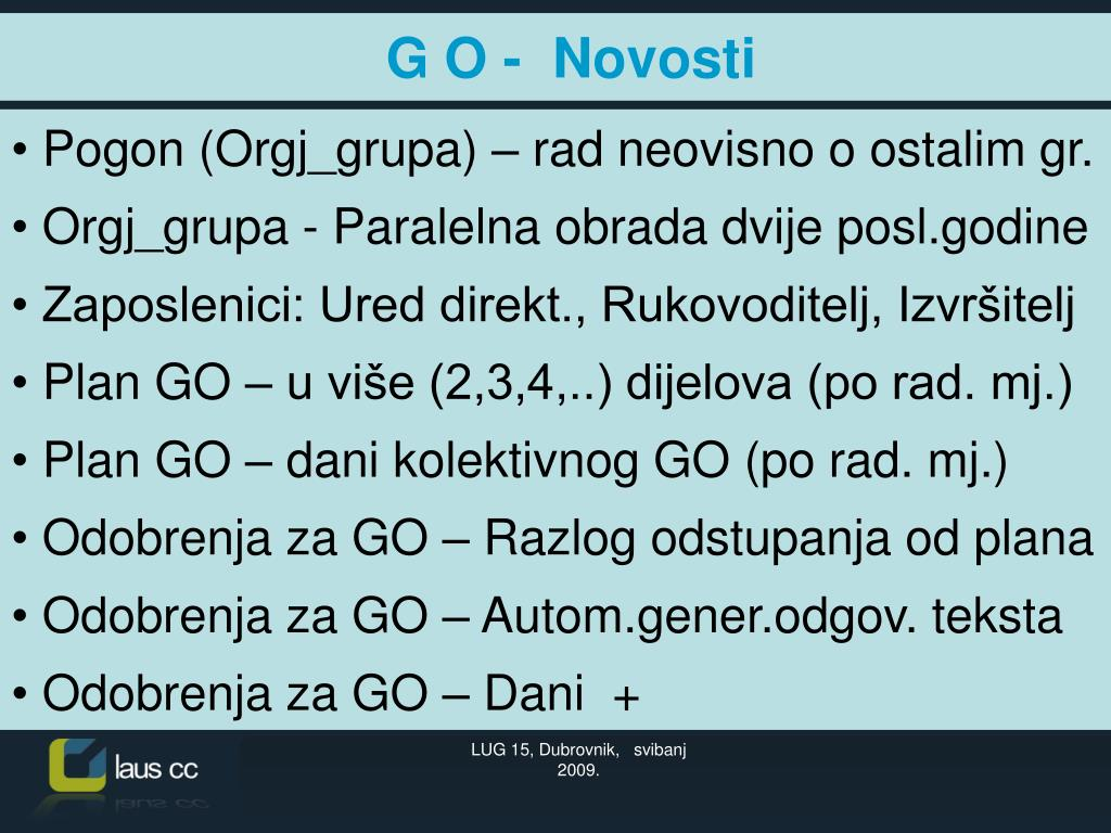 Pogon (Orgj_grupa) – rad neovisno o ostalim gr.