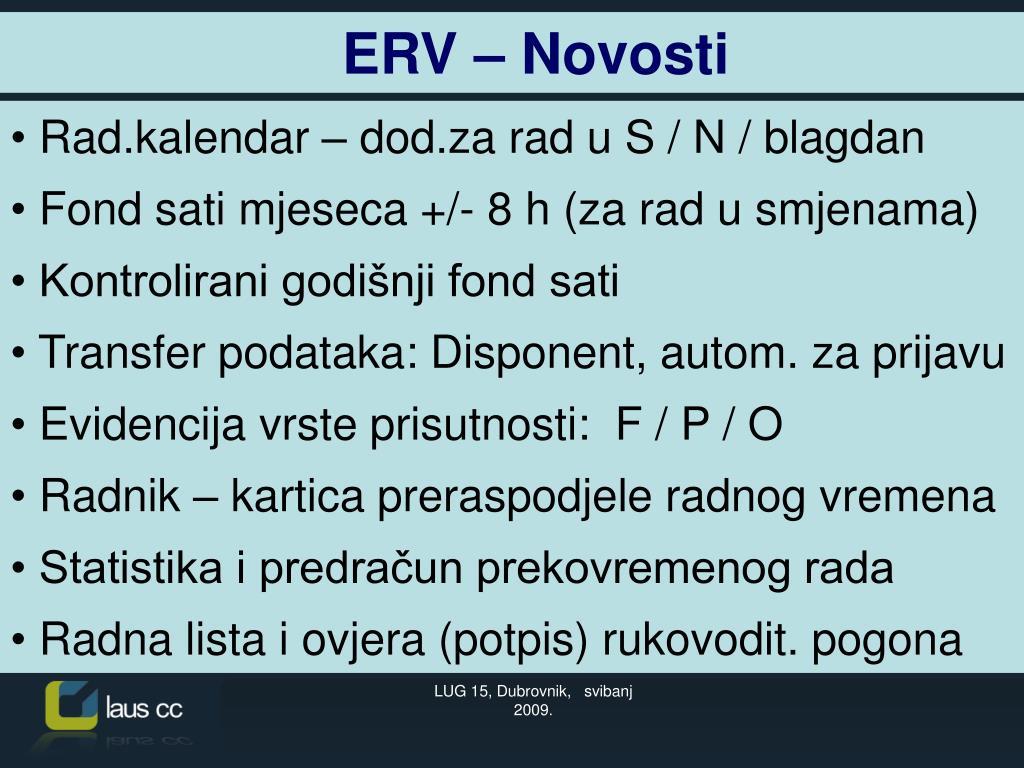 ERV – Novosti