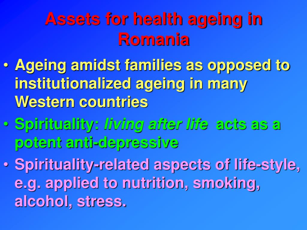 Assets for health ageing in Romania