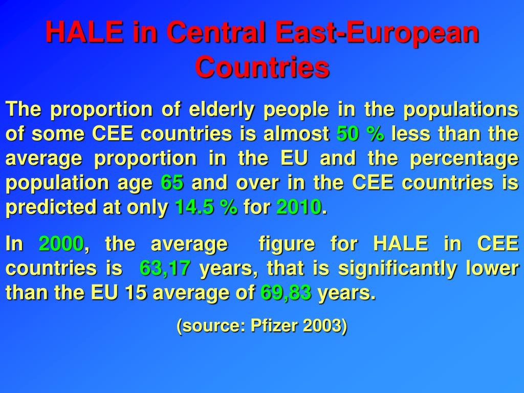 HALE in Central East-European Countries