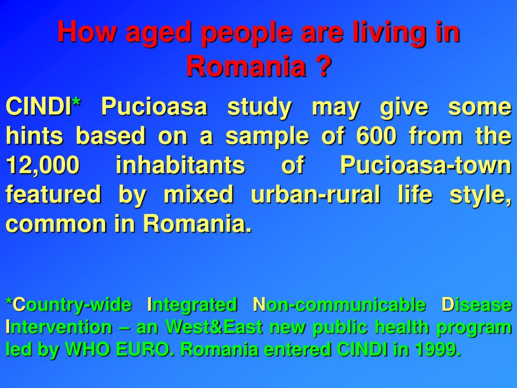 How aged people are living in Romania ?