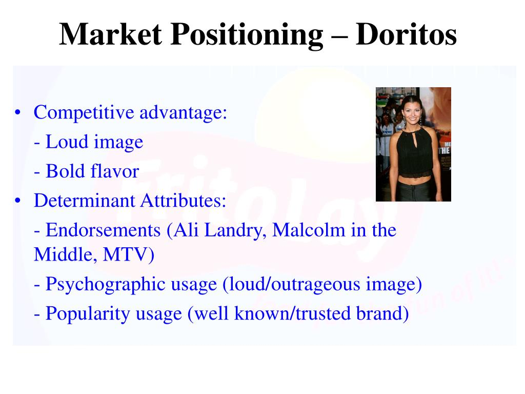 Market Positioning – Doritos