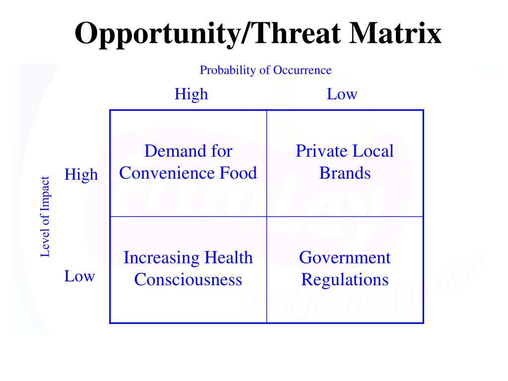 Opportunity/Threat Matrix