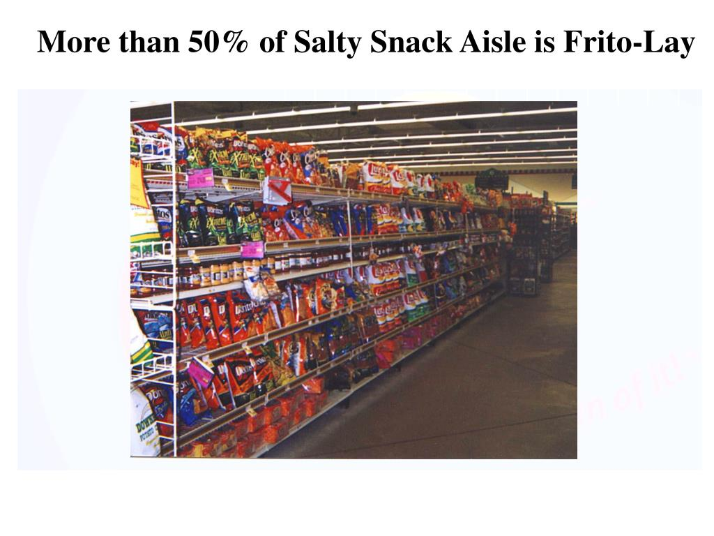 More than 50% of Salty Snack Aisle is Frito-Lay