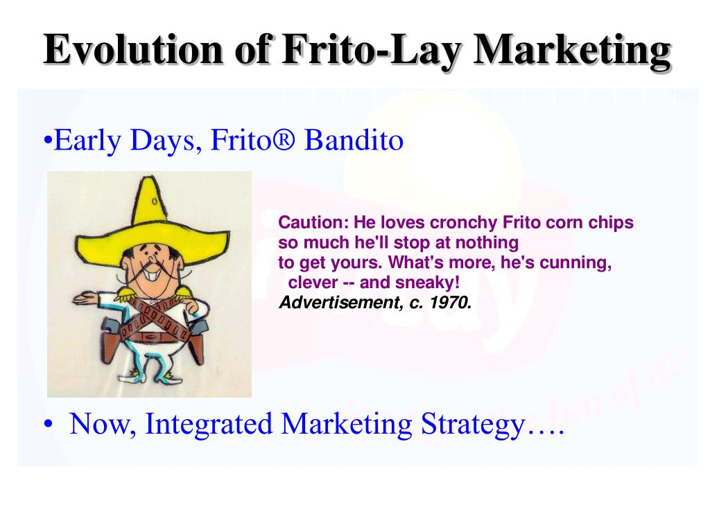 Evolution of Frito-Lay Marketing